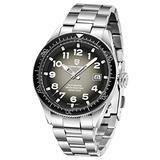 Men's Watches Pagani Design Mechanical Watch for Men, Japanese Seiko NH35 Automatic Movement Stainless Steel Waterproof Wristwatch Analog Clock (Grey)