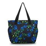 NOTAG Tote Purses for Women Lightweight Large Shoulder Handbags Nylon Floral Printed Purses and Handbags (YJ)