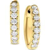 """Diamond (1/2 Ct. T.w.) Small Hoop Earrings In 14k White Gold Or 14k Gold, 1/2"""" - Metallic - Macy's Earrings"""