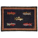 Chandler 4 Corners Artist-Designed River Fish Trout Hand-Hooked Wool Accent Rug (2' x 3')