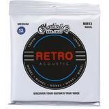 Martin Retro Acoustic Guitar Strings - .013-.056 Medium