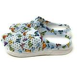 Comfort Trends Butterfly Womens Medical Shoes EVA Clogs (Blue Butterfly, 8)