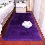 Soft Faux Fur Sheepskin Rug Fake Fleece Chair Cover Seat Pad Soft Fluffy Shaggy Area Rugs for Bedroom Living Room or Nursery,Purple, 2ftx4ft