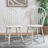 Safavieh Home Camden Farmhouse Off-White Spindle Back Dining Chair, Set of 2