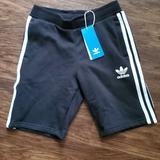 Adidas Bottoms | Adidas Fleece Kids Shorts | Color: Black/White | Size: Us - Smalluk 9-10y