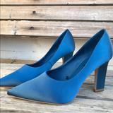 Zara Shoes | Blue Satin Pumps | Color: Blue | Size: 7