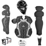 All Star Players Series NOCSAE Certified Youth Catcher's Gear Set - Ages 12-16 Black