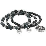 Alex and Ani Path of Life Set of 3 Stretch Bracelet Silver One Size, Rafaelian Silver