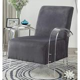 Acme Furniture Chair, Charcoal & Clear Acrylic