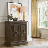 Right2Home Two Door Carved Accent Oak Brown Storage Chest
