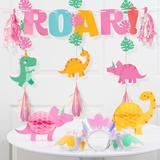 Creative Converting 13 Piece Girl Dino Favors Decoration Kit Heavy Duty Paper in Green/Pink/Yellow | Wayfair DTC5763E1A