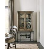 Hooker Furniture La Grange Bar Cabinet Wood/Metal in Brown/Gray, Size 80.0 H x 19.0 D in | Wayfair 6960-75160-80