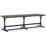 Hooker Furniture La Grange Metal Bench Metal in Black, Size 19.75 H x 66.0 W x 18.0 D in | Wayfair 6960-90019-80