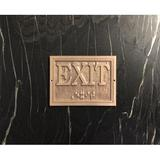 K Castings, Inc. Contemporary Exit Sign in Yellow, Size 4.5 H x 6.0 W x 0.25 D in | Wayfair B3206-IPE20B