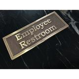 K Castings, Inc. Contemporary Employee Restroom Sign in Yellow, Size 3.9 H x 10.0 W x 0.2 D in | Wayfair B3104-IPER200