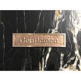 K Castings, Inc. Contemporary Gentlemen Restroom Sign in Yellow, Size 2.5 H x 9.6 W x 0.2 D in | Wayfair B3103-IPG200