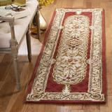 Fleur De Lis Living Alger Oriental Hand Braided Wool Brown/Area Rug Wool in Green, Size 27.0 W x 0.63 D in | Wayfair CL755A-28