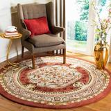 Fleur De Lis Living Alger Oriental Hand Braided Wool Brown/Area Rug Wool in Green, Size 24.0 W x 0.63 D in | Wayfair CL755A-5R