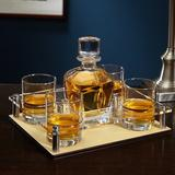 Charlton Home® Finola Personalized 5 Piece Whiskey Decanter Set Glass/Crystal | Wayfair 6328