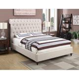 "Canora Grey Buchanan Queen Tufted Upholstered Sleigh Bed, Upholstered/Polyester/Polyester blend in Beige, Size 56""H X 95""W X 66""D | Wayfair"