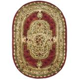 Fleur De Lis Living Alger Oriental Hand Braided Wool/Green Area Rug Wool in Brown, Size 54.0 W x 0.63 D in | Wayfair CL755A-5OV