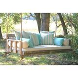 Longshore Tides Pritchett Porch Swing Wood/Solid Wood in Brown, Size 24.0 H x 90.0 W x 44.0 D in | Wayfair E30BA41CA71741DF92CFBAD843DC6381