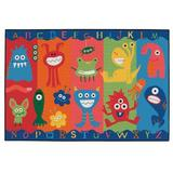 Carpets for Kids KID Value Rugs Tufted Red/Blue/Green Area Rug in White/Brown, Size 36.0 W x 0.25 D in | Wayfair 36.03