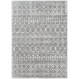 Foundry Select Moyer Gray/Ivory Rug Polyester in White, Size 120.0 H x 94.0 W x 1.1 D in | Wayfair 1DF289DEFA874B84B280BF7F8EE9112D