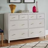 Beachcrest Home™ Tamas 8 Drawer Double Dresser Wood in White, Size 38.03 H x 57.99 W x 17.71 D in | Wayfair AFCFCFE9FBCC496AB09976F84D06A4AC