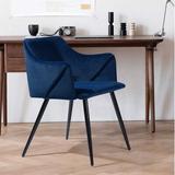 Etta Avenue™ Braxton Arm Chair Wood/Metal in Blue/Brown, Size 29.5 H x 20.1 W x 20.1 D in   Wayfair ACBEBBB8F4064E3EB2AE42D4272E80DA