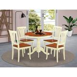Alcott Hill® Ranshaw Solid Wood Dining Set Wood in White, Size 29.5 H x 36.0 W x 36.0 D in | Wayfair ALCT4804 27713310