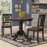 Alcott Hill® Ranshaw Solid Wood Dining Set Wood in Black, Size 29.5 H x 36.0 W x 36.0 D in   Wayfair 1DBFD879EF8C4D6C9B4FA507D2CCF235