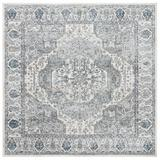 Martha Stewart Rugs Oregon Eight Hundred Sixty Seven Area Rug In Ivory/Grey Polypropylene in White, Size 79.0 H x 79.0 W x 0.35 D in | Wayfair