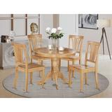 Alcott Hill® Ranshaw Solid Wood Dining Set Wood in Brown, Size 29.5 H x 36.0 W x 36.0 D in   Wayfair ALCT4804 27713312