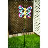 August Grove® Butterfly Garden Stake Metal, Size 35.83 H x 1.69 W x 9.17 D in | Wayfair 66811CE1C6CC45B1837497139922BAE3