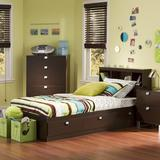 South Shore Spark Twin Mate's & Captain's Bed Wood in Brown, Size 14.75 H x 40.5 W x 76.5 D in | Wayfair 3259080