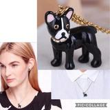Kate Spade Jewelry | $58 Nwt Kate Spade Antoine Dog Pendant Necklace | Color: Black/Gold | Size: Necklace: 17l+ 3 Extender