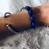 Anthropologie Jewelry   Anthropologie Blue Beaded Bracelet   Color: Blue   Size: Os