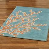 "Windham Rectangle Rug, 5' x 7'9"", Aqua"