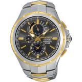 Solar Chronograph Coutura Two-tone Stainless Steel Bracelet Watch 44mm Ssc376 - Metallic - Seiko Watches