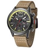 MEGIR Mens Watch Leather Analog Quartz Chronograph Wristwatch Men Date Business Dress Wristwatch Men's Casual Waterproof Sport Watches Black Brown