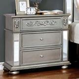 House of Hampton® Volney 2 - Drawer Nightstand Wood in Gray, Size 30.0 H x 30.0 W in   Wayfair 0D22DAC01A5646B1B2905A199E3E3E94