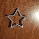 Anthropologie Jewelry | .925 Sterling Silver Cz Encrusted Star Pendant | Color: Silver | Size: Os