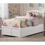 Breckin Extra Long Twin Solid Wood Platform Bed w/ Trundle by Harriet Bee Wood in White, Size 41.5 H x 41.625 W x 82.5 D in | Wayfair