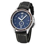 Mens Quartz Watch, CZOKA Genuine Leather Band Waterproof Wrist Watch Casual Business Dress Watch, Luxury Fashion Simple Quartz Wrist Watches for Men (Blue)