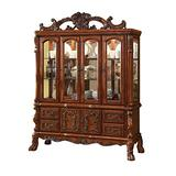 Benjara Door Traditional Hutch and Buffet Set with 4 Drawers and 2 Cabinets, Brown
