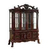 Benjara Drawer Traditional Hutch and Buffet Set with 4 Doors and 2 Cabinets, Brown