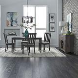 Liberty Furniture Industries Tanners Creek 5 Piece Leg Table Set, W36 x D60 x H30, Brown