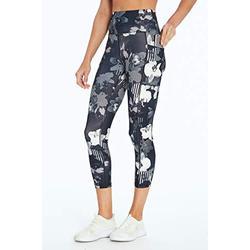 Bally Total Fitness Damen High Rise Pocket Mid-Calf Legging, Damen, Caprihose, High Rise Pocket Mid-Calf Legging, Grau, X-Large