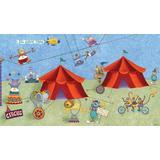 RoomMates JL1182M Big Top Circus Prepasted Chair Rail Wall Mural